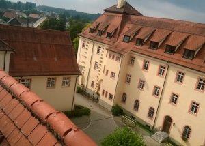 Girl bording monastery Kloster Wald